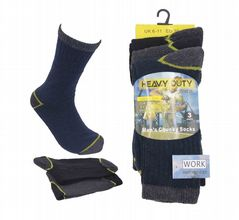 Mens work socks big foot heavy duty socks 12 pairs MN275883